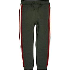 Pantalon de jogging kaki à bande latérale pour garçon