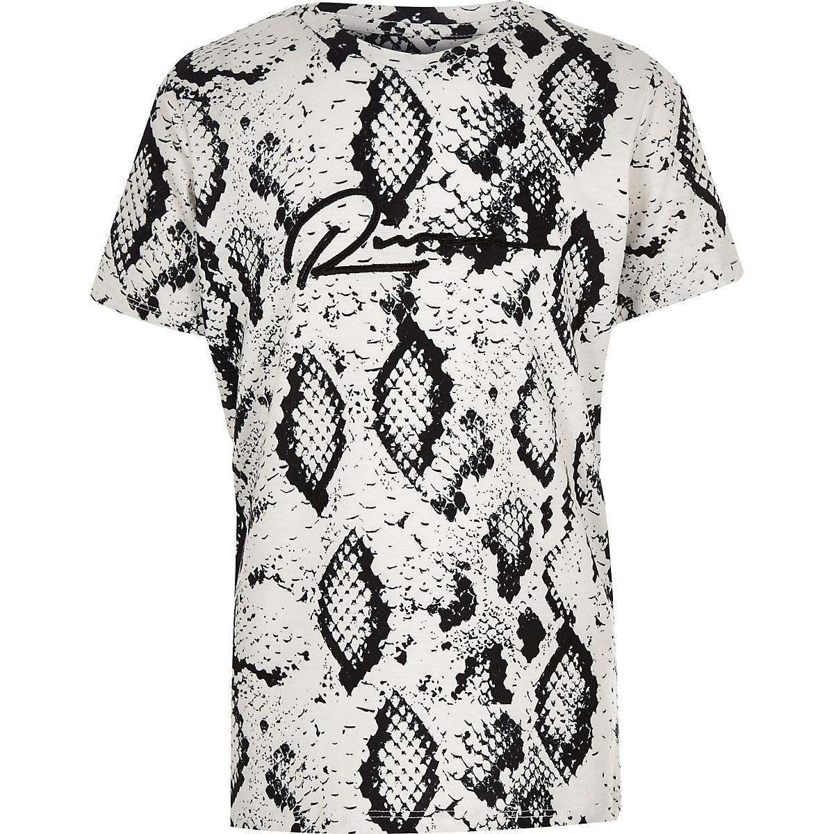 Boys stone snake print T-shirt