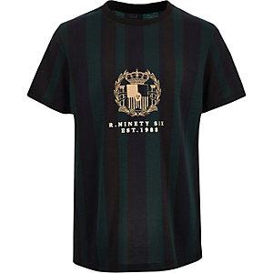 T-shirt R96 rayé vert pour garçon