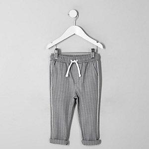 Mini - Grijze broek met krijtstreep voor jongens