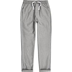 Grijze broek met krijtstreep voor jongens