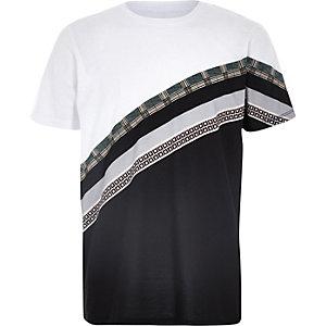 T-shirt blanc clolour block à imprimés variés pour garçon