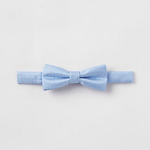 Boys light blue bow tie