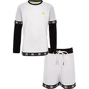 RI Active – Outfit mit weißer Shorts aus Netzstoff