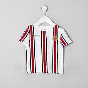 Weißes, gestreiftes T-Shirt