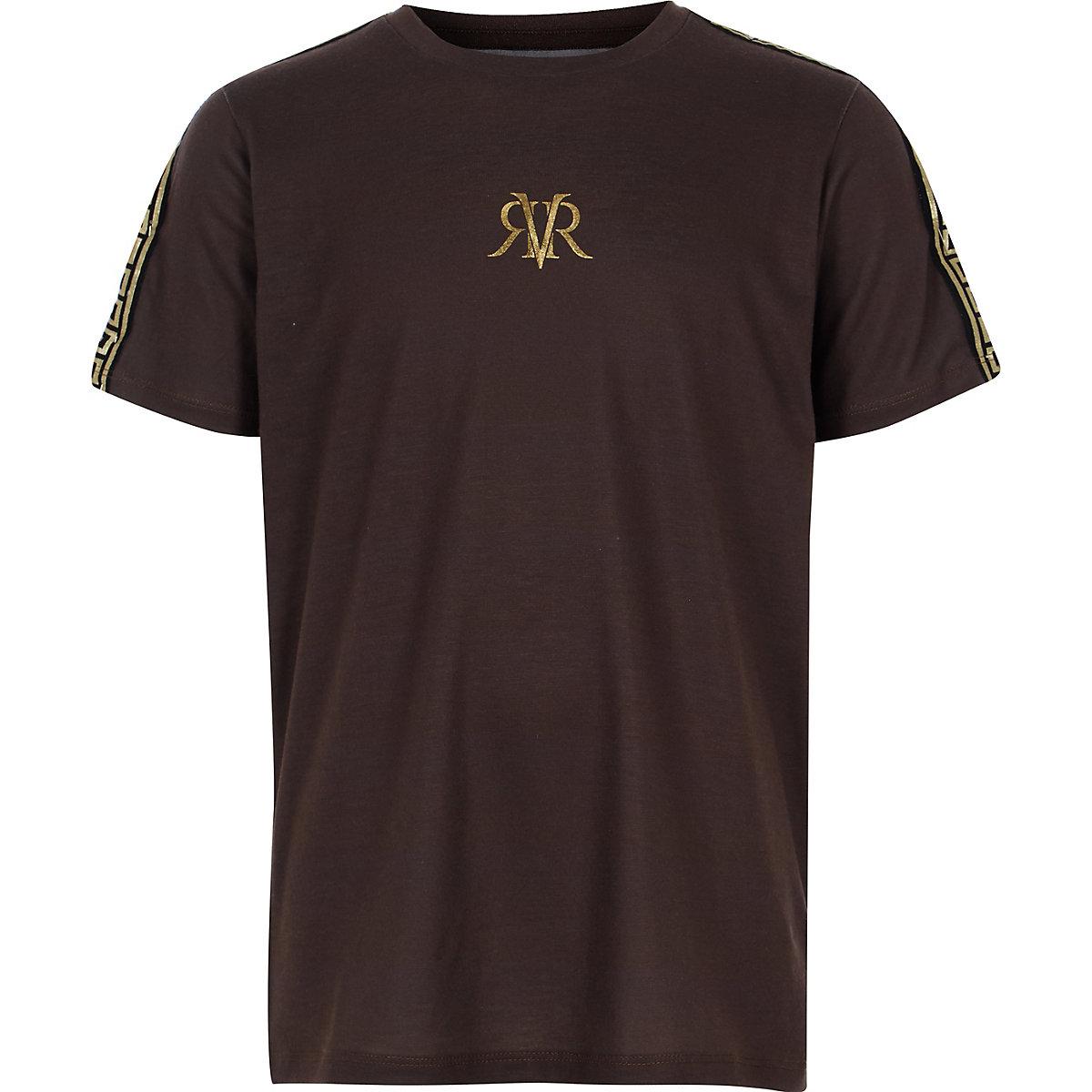 Boys brown RI tape T-shirt