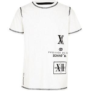 T-shirt imprimé numérique blanc pour garçon