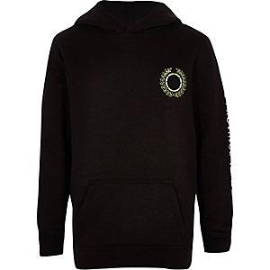 Zwarte geborduurde hoodie voor jongens