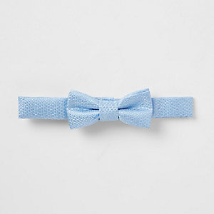 Mini boys light blue bow tie