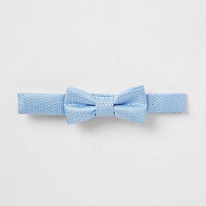 Mini - Lichtblauwe vlinderdas voor jongens