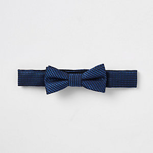 Mini boys bright blue bow tie