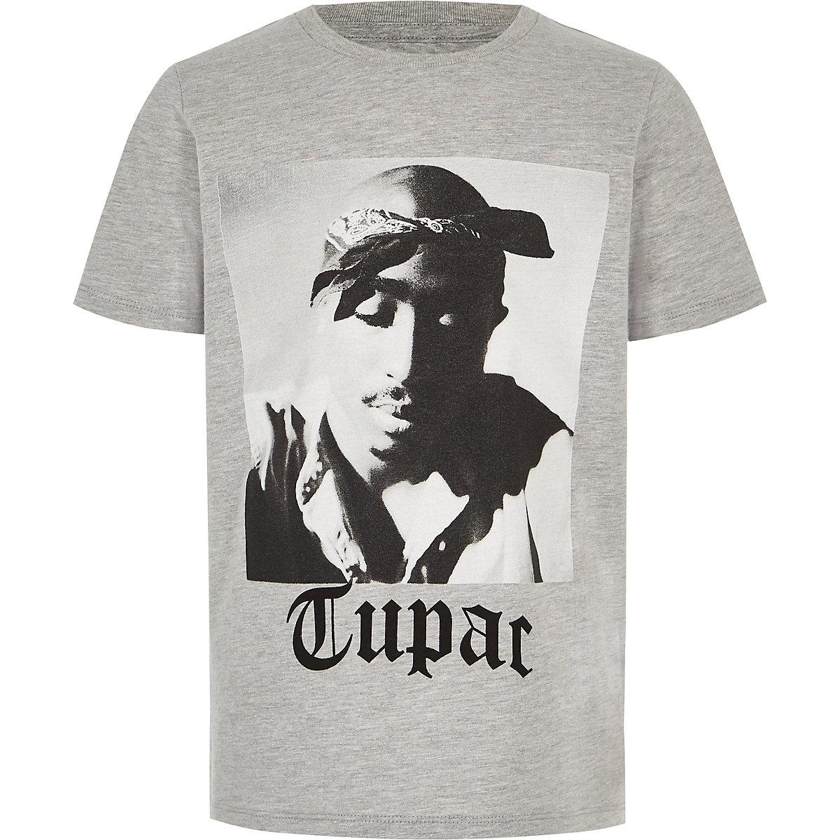 Boys grey Tupac T-shirt