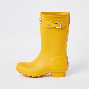 Hunter Original – Bottes en caoutchouc jaunes pour enfant