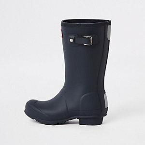 Kids Hunter Original navy rubber boots