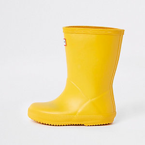 Mini kids Hunter Original yellow rubber boots