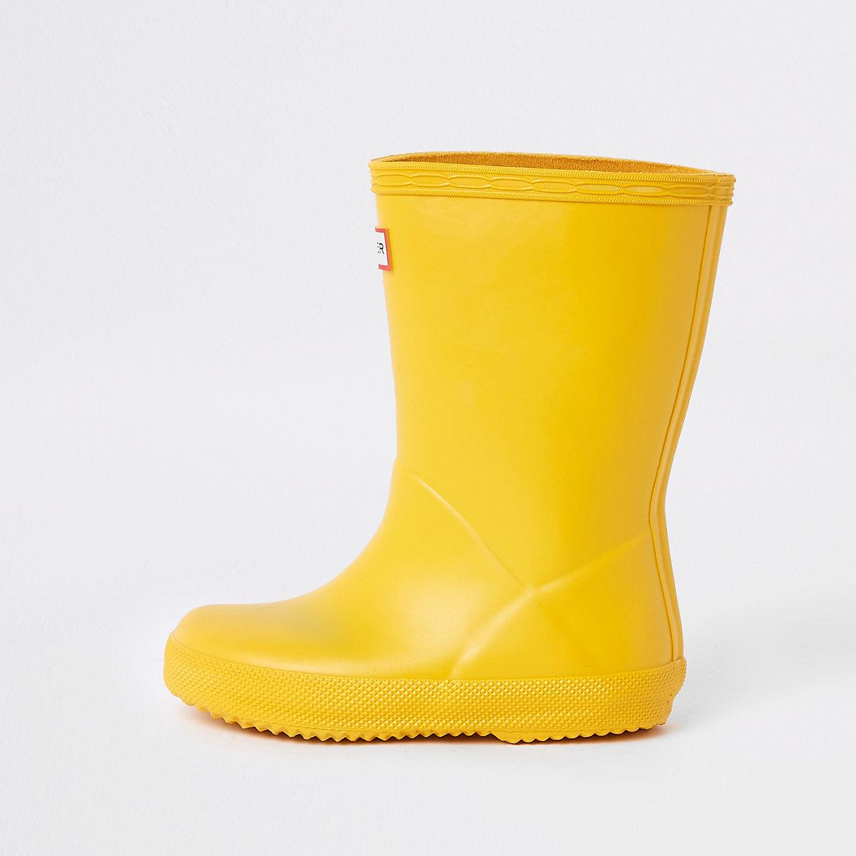 Mini kids Hunter Original yellow rubber boots