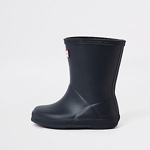 Mini kids Hunter Original First navy rubber boots