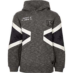 Boys RI Active grey block grindle hoodie