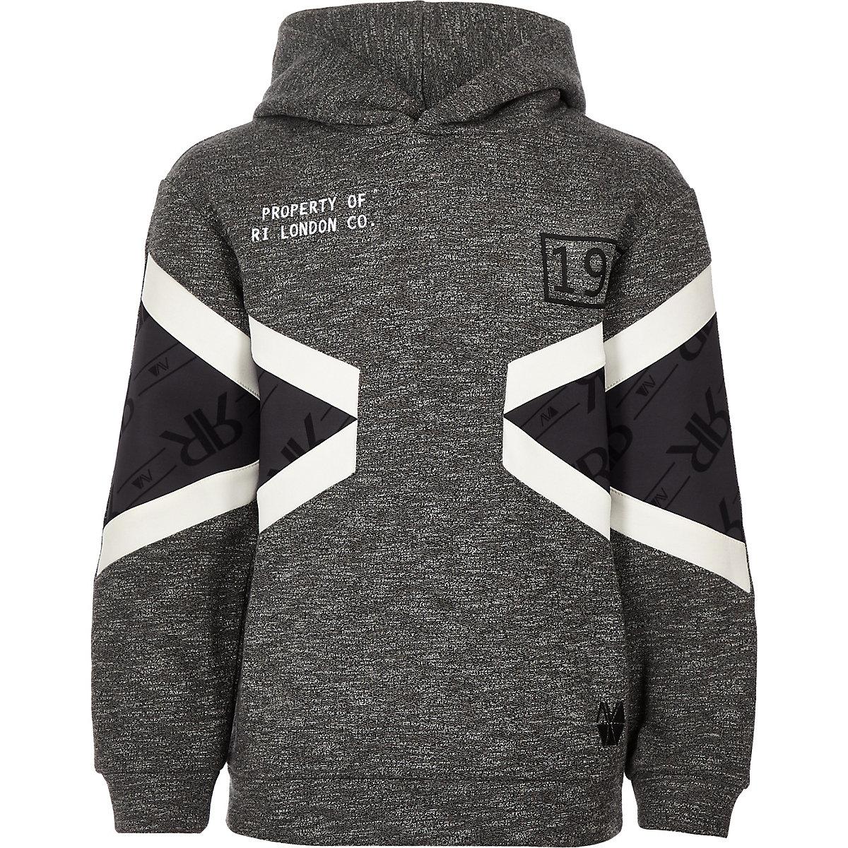 Boys RI Active grey block grindle hoodie