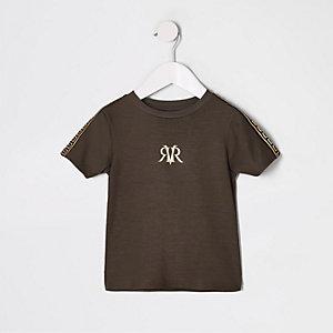 Mini - Bruin T-shirt met RI-bies voor jongens