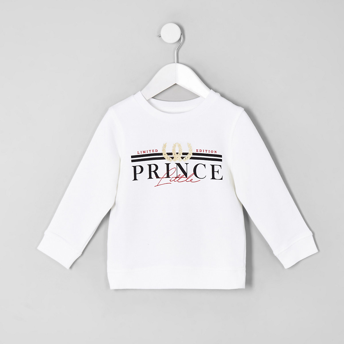 Mini boys white 'Little prince' sweatshirt