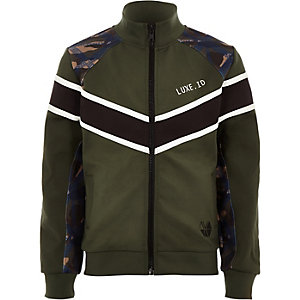 Boys RI Active khaki block track jacket