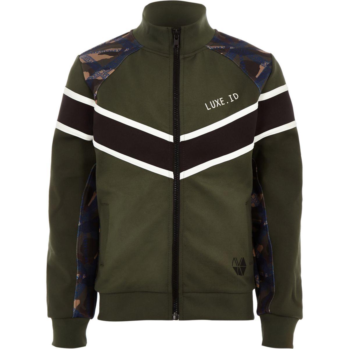 Boys RI Active khaki block track jacket