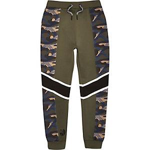 RI Active - Kaki joggingbroek met camouflageprint voor jongens