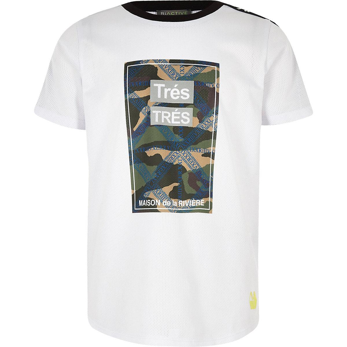 Boys RI Active white 'Tres' camo T-shirt