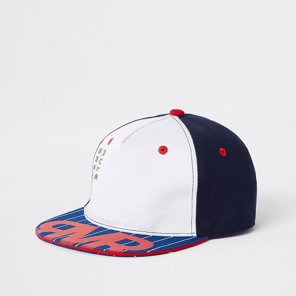 Mini boys 'Rule breaker' flat cap