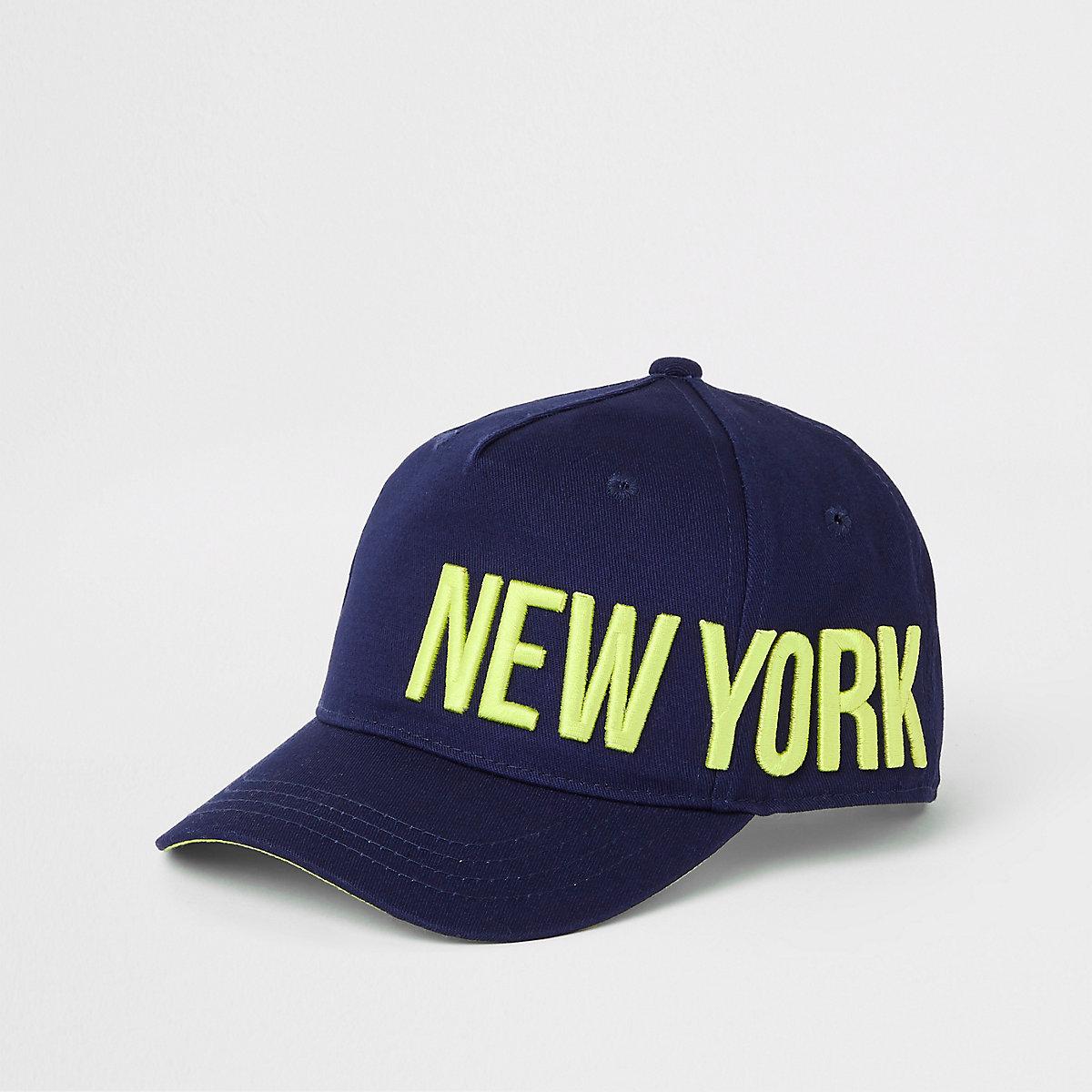 Boys navy 'New York' cap