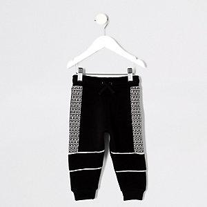 Pantalon de jogging noir à bande RI mini garçon