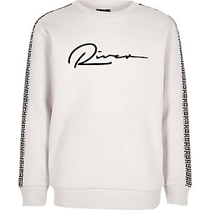 Boys ecru RI sweatshirt