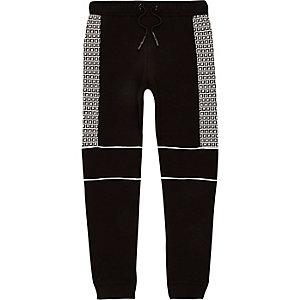 Pantalon de jogging noir à logo RI pour garçon
