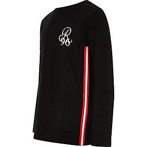 T-shirt R96 noir à manches longues pour garçon