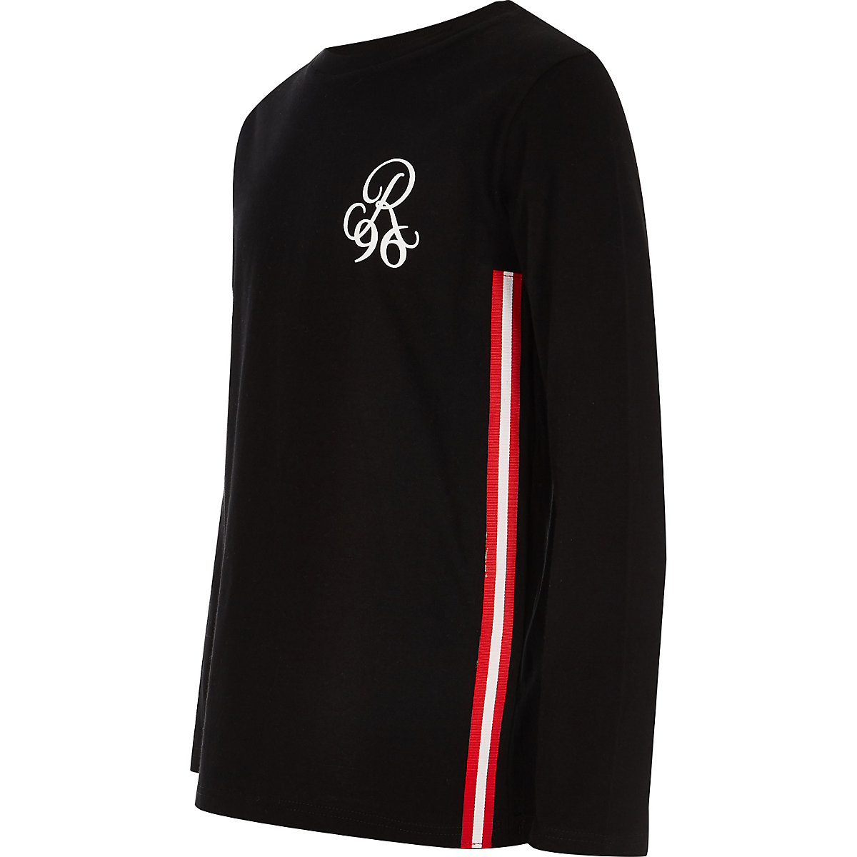 Boys black R96 long sleeve T-shirt