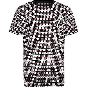 Marineblaues T-Shirt mit RI-Monogramm