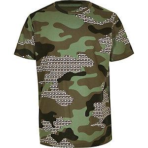 T-shirt RI camouflage kaki pour garçon