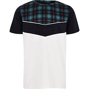 Boys white check chevron T-shirt