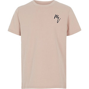 Boys stone textured T-shirt