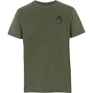 Strukturiertes T-Shirt in Khaki