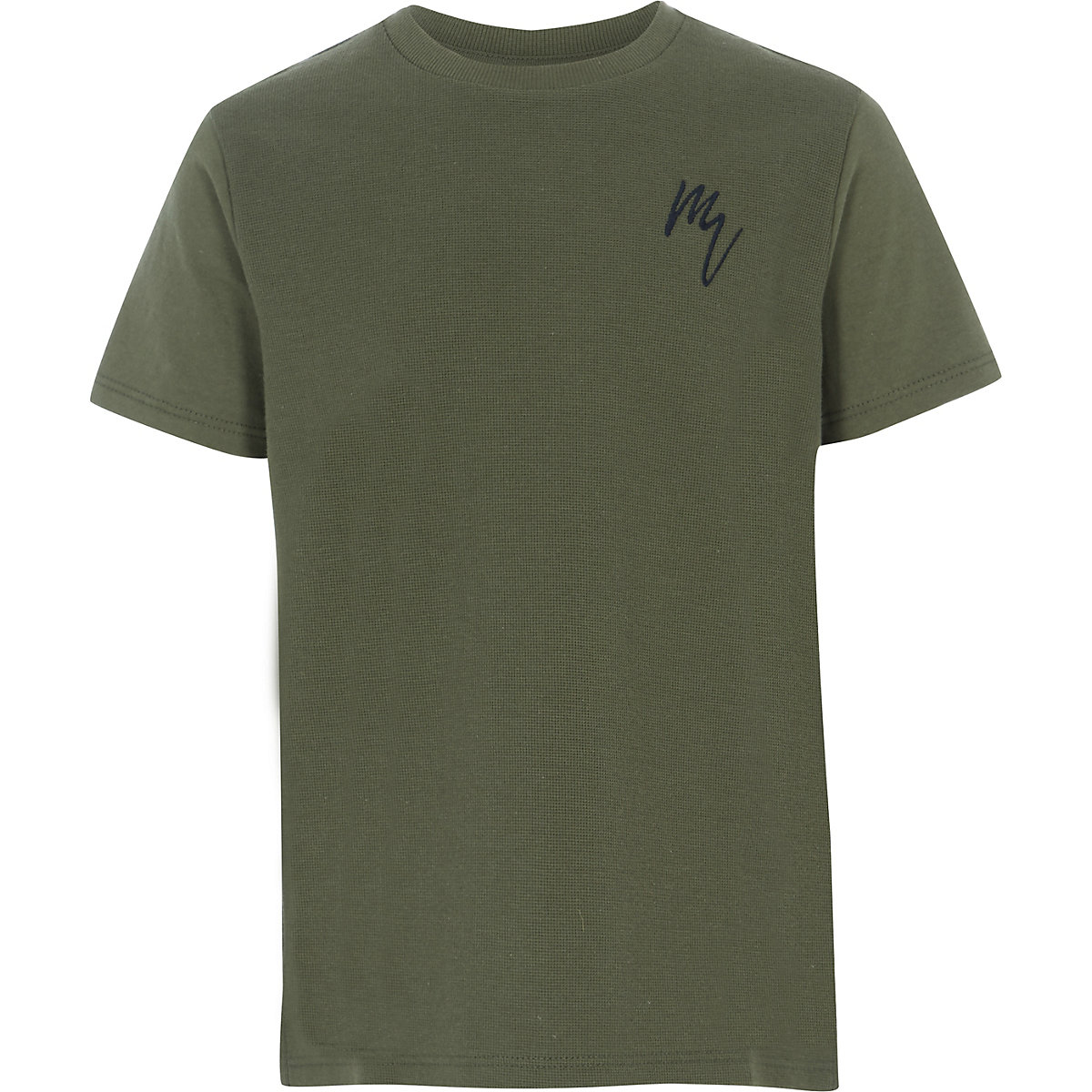 Boys khaki textured T-shirt