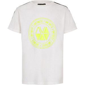 RI Active – T-shirt blanc à bande pour garçon