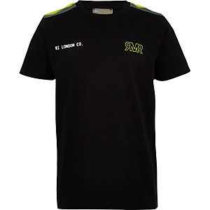 RI Active – Schwarzes T-Shirt