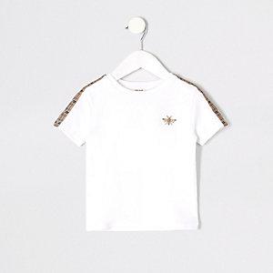 Weißes T-Shirt mit Wespenstickerei
