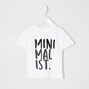 Mini boys white 'Minimalist' T-shirt