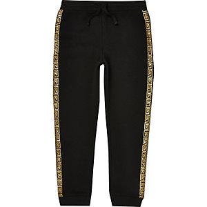 Pantalon de jogging noir à bandes pour garçon