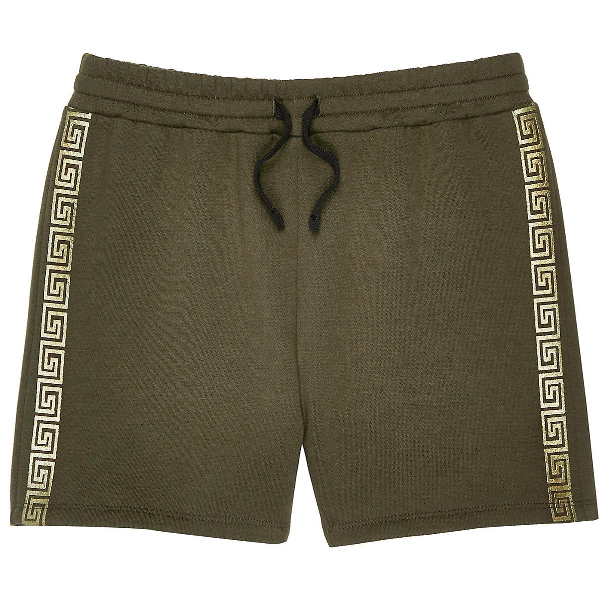 Boys khaki tape shorts