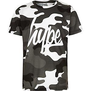 Hype – T-shirt camouflage gris pour garçon