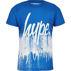 Hype - Blauw T-shirt met verfspetters voor jongens